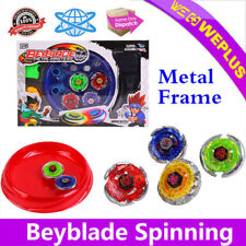 4D Beyblade Stadium Metal Master Rapidity Fusion Fight Launcher Grip Toy Set Kid