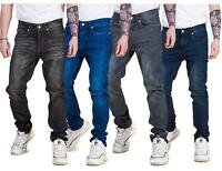 Mens Skinny Slim fit Stretch Jeans Denim Cotton Fly Zip Quality Trousers Pants