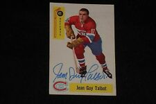 JEAN GUY TALBOT 1958-59 PARKHURST SIGNED AUTOGRAPHED CARD #41 CANADIENS