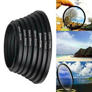 37-49 52-55 58-62 67-72 72-77 77-82mm Camera Lens Adapter Ring Step Gift
