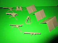 Marx US army training center - Desert Fox - sand color - Equipment - 9 Pc set