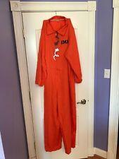 Spirit Halloween Dept. of Corrections Prison Costume - Men's Xl - Nwot w Handcuf
