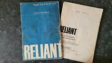2 x Owners Handbook for Reliant Regal 3/25 and 3/30 Saloon & 5cwt Supervan III