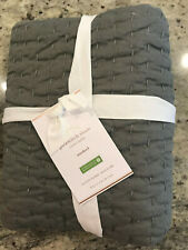 Pottery Barn Pickstitch Standard Quilted Sham Flagstone Gray NEW