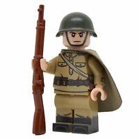 Lego Custom WW2 Soviet Infantry w/Plash Palatka- Full Custom Printing NEW