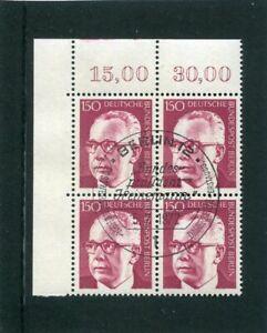 Berlin, Heinemann, Mi.-Nr. 431, Eckrandviererblock, 4er Ecke, ESST Berlin