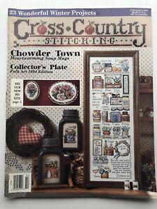 Vintage Cross Country Stitching Magazine February 1994