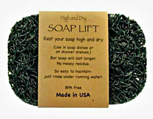 HUNTER  GREEN SOAP LIFT SOAP DISH, THE BEST WAY TO KEEP YOUR SOAP FREE OF MUCK