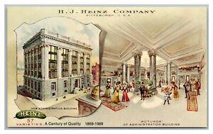 Postcard PA Pittsburgh H.J. Heinz Company Admin Building 100 years 1869-1969 Q26