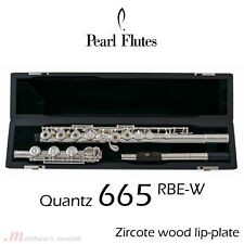 Pearl Flute PF-665 RBE-W | B-foot with Wooden Lip-Plate