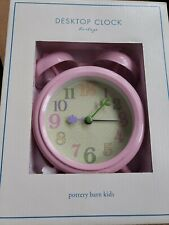 Pottery Barn Kidpink Flower Desktop Clock