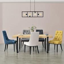 [en.casa] Esszimmerstuhl Küchenstuhl Polstersessel Steppung Polsterstuhl Stuhl