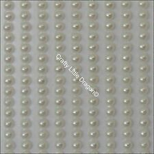 960 x 3mm Ivory Acrylic Faux Half Round Pearl Stick on Self Adhesive Strip Gems