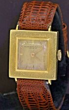 Audemars Piguet vintage 18K gold rare elegant square mechanical men's watch