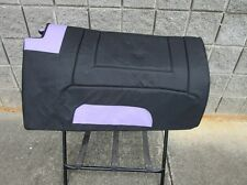 SYNTHETIC PAD HORSE WESTERN TREELESS SADDLE PURPLE OSTRICH NAVAJO TRAIL SHOW