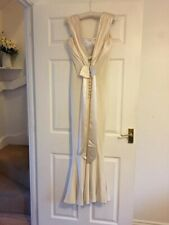 Ivory Silk Crepe / Satin Bias Cut Wedding Dress Size 12 Designer Sample