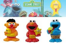 "Playskool Sesame Street 4"" Bath Squirter figures Elmo Cookie Monster Ernie  set"