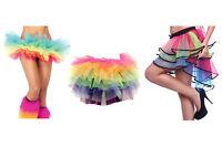 Womans multicoloured 7 layer flamingo style tutu multicoloured 5 layered tutu