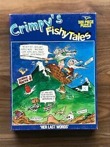 Holdson CRIMPY'S FISHY TALES Jigsaw Puzzle 500 Pieces HER LAST WORDS - VG