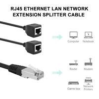 Adaptateur câble rallonge réseau RJ45 séparateur 1 mâle à 2 femelle Ethernet D1