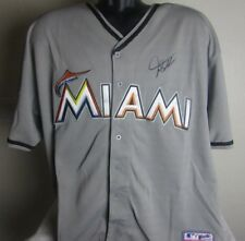 GIANCARLO STANTON AUTOGRAPHED SIGNED MIAMI MARLINS JERSEY WITH COA