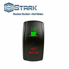 GREEN RED Laser Backlit Etched LED Rocker Switch Dual Light 20A - HOT WATER