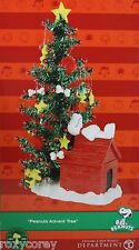 Christmas Peanuts Advent Tree with Snoopy & Woodstock 26 Pieces Countdown NIB