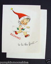 Unused 1946 Eva Harta Xmas Greeting Card Sweet Angel with a Present. Ars Sacra