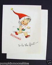 Unused 1946 Eva Harta Xmas Greeting Card Sweet Angel with a Present. Ars Sacra