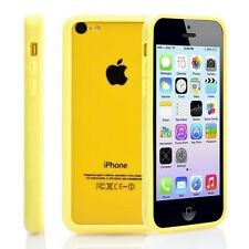 Yellow Soft TPU Protector Bumper Frame Snap Case Cover for Apple iPhone 5C