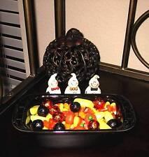 Longaberger Pottery Small Loaf Dish - One (1) -  EBONY (BLACK) -  Halloween!