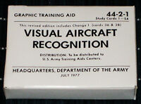 Visual Aircraft Recognition Cards - US Army Issue Military Surplus 1977 SEALED