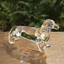 CRYSTAL Dachshund Figurine Doggy deluxe Dog Puppy COLLECTOR NEWin Box Big Sale