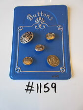 #1159 lotto di 5 Bottoni Misti Color Argento
