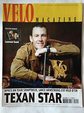 VELO MAGAZINE N°404 DEC. 2003 LANCE ARMSTRONG - VELO D'OR // TEXAN STAR