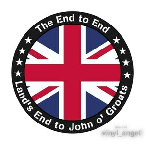2x The End to End - Land's End to John o' Groats Car Vinyl Sticker - WATERPROOF