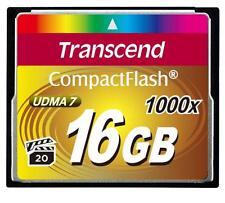 Tarjeta de memoria de 16GB Transcend 1000x Ultimate CompactFlash UDMA 7