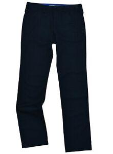 Burberry Mens Chino Trouser Pant  BURBERRY BRIT Slim Fit Navy Surplus Stock
