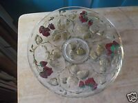 Vintage Goofus Glass Low Bowl with Red Strawberries and Gold Leaf Design
