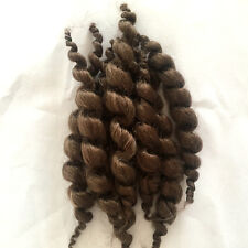 8 PCS Brown Reborn Baby Dolls Hair Premium Curly Mohair Supplies Newborn Wigs