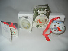 Hutschenreuther Weihnachtskugel Porzellan 1991 (meine Art-Nr. 1991-6)