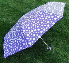 Raintec Purple & White Polka Dot Design Umbrella