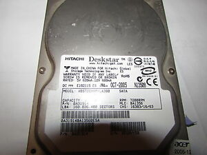 HARD DISK 3,5 80GB HITACHI DESKSTAR SERIAL ATA  MODEL HDS728080PLA380