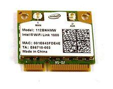 Intel Centrino Wireless-N 1000 802.11 b/g/n 112BNHMW Wifi Half Mini PCI-E Card