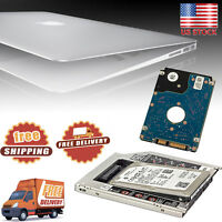 2nd HDD SSD SATA Hard Drive Caddy Adapter Bay for MacBook Pro Unibody SuperDrive
