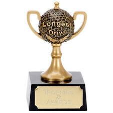GOLF TROPHY ENGRAVED FREE LONGEST DRIVE CUP DESIGN TROPHIES RESIN AWARD TEE