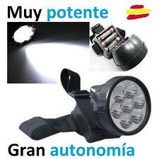 Linterna frontal LED de alta eficiencia potencia autonomía cabeza camping minero