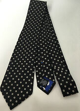 """Paul Smith Cravate NOIR """"MAINLINE"""" 100% Soie Motif Floral Made in Italy"""