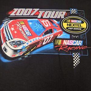 2007 NASCAR NEXTEL CUP SERIES SCHEDULE NASCAR Black T Shirt 2XL NWT