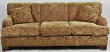 Baker Upholstered Milling Road Sofa with Damask Fabric
